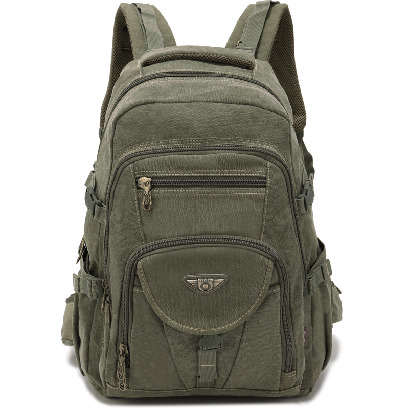 Mens computer backpack fashion trend sports travel anti theft multifunctional large capacity Canvas Backpack men