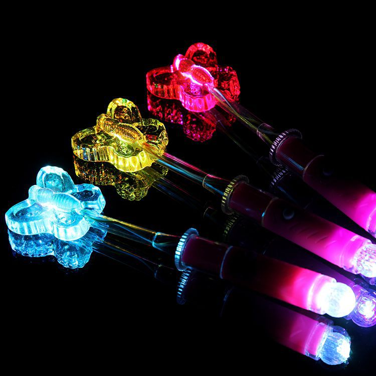 Butterfly shaped luminous lollipop electronic LED double lights colorful flash creative candy bar will be luminous candy