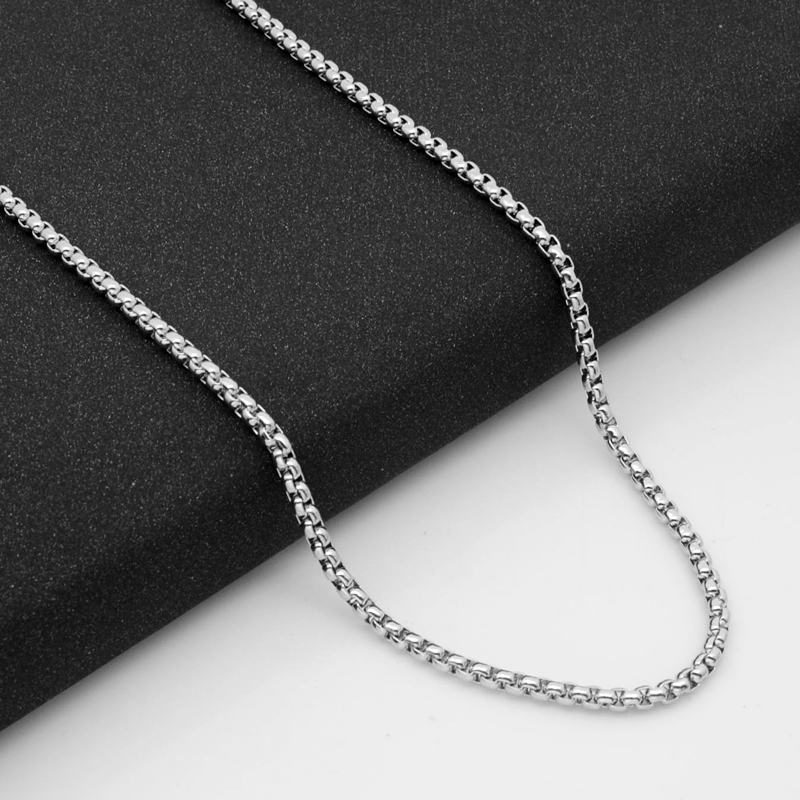 316不锈钢项链钛钢男士项链配链DIY饰品配件韩版女生颈链方珍珠链