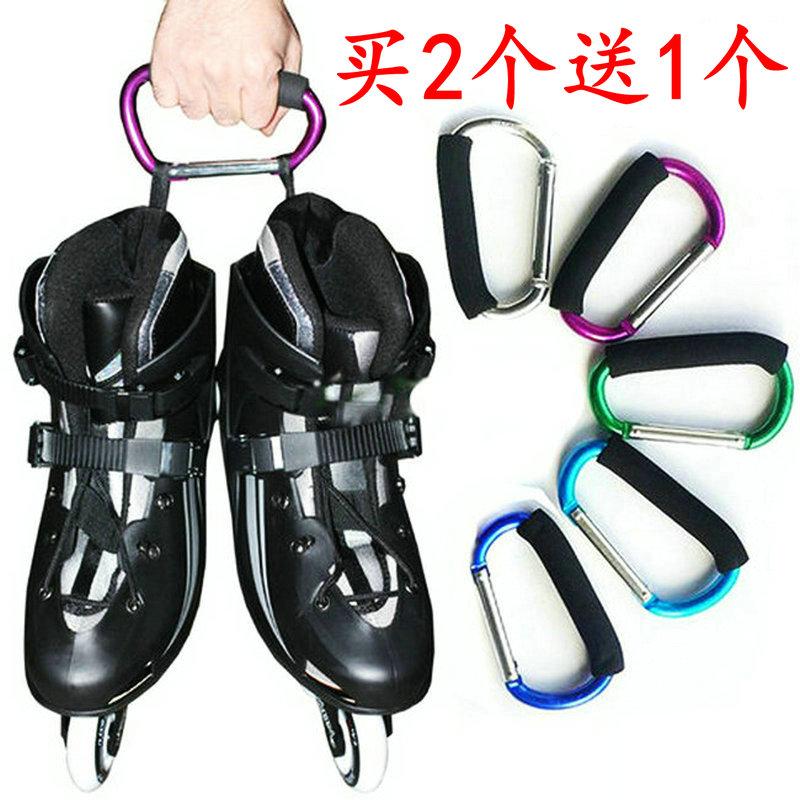 Большой размер катание на коньках обувной алюминиевых сплавов сандалии пряжка упоминание вещь устройство многофункциональный обрабатывать восхождение висячие металл коньки монтаж