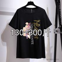 300斤特大码短袖t恤女装韩版加肥加大胖mm宽松显瘦半袖200夏装季