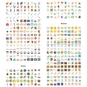 3500行业个性特色sketch/ai矢量图标医疗母婴文娱体育家居美食等