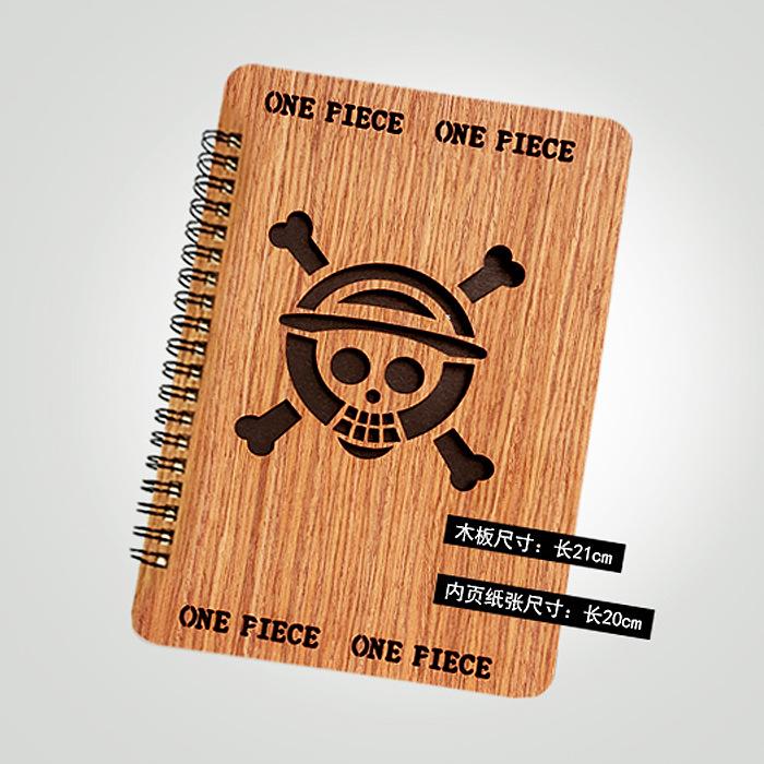 海贼王 木板封面珍藏笔记本 漫展热卖产品