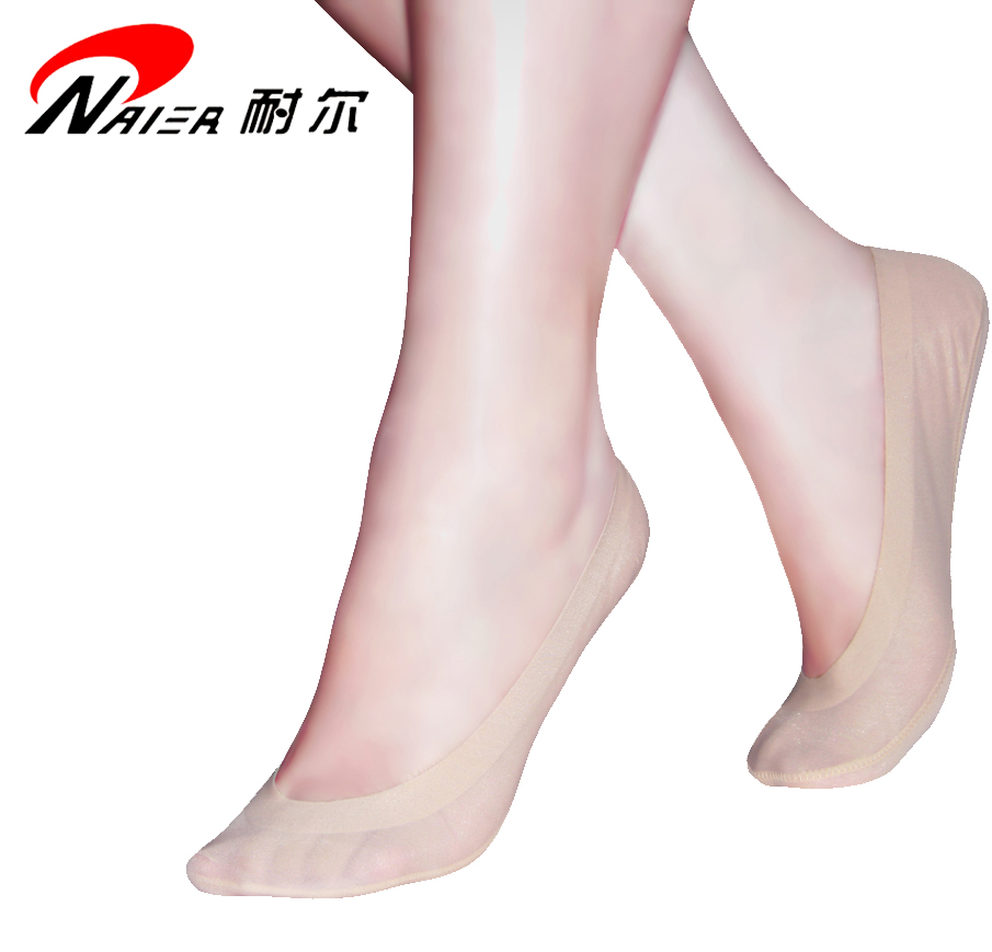 Mail three pairs of Nike Hollywood super traceless invisible ship socks with silicone anti slide bottom and short mouth socks in summer