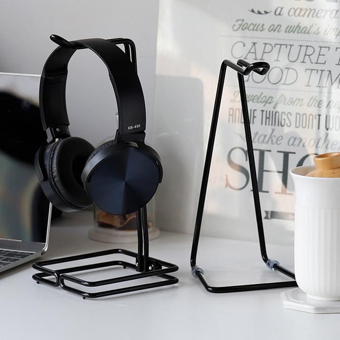 电脑耳麦支架 耳机架 不锈钢耳麦支架 铁艺金属展架 网咖 头戴式