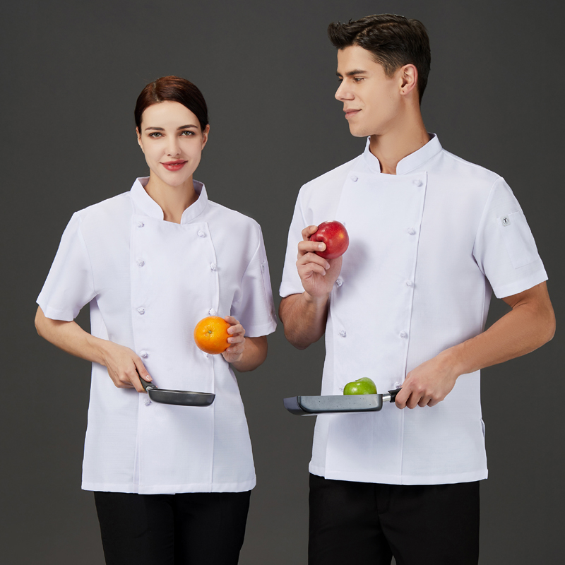 Korean Japanese hotel chef work clothes short sleeve summer cake sushi cooking uniform bread baking barbecue clothes