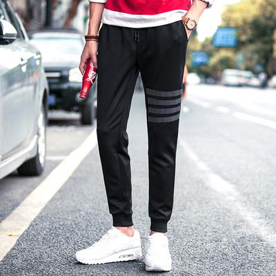 2017秋装主推大货男士运动裤哈伦裤休闲裤弹力卫裤针织裤K118-P35