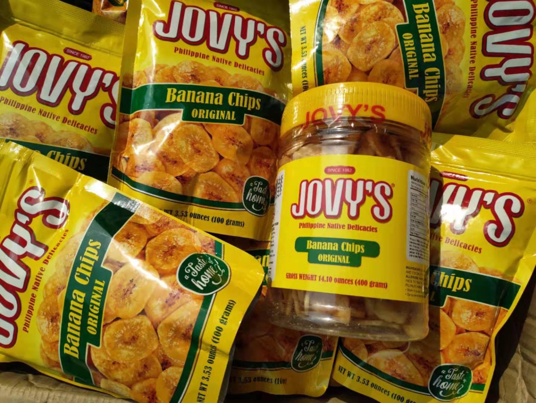 新日期菲律宾香蕉片jovy's长滩岛香蕉干特产代购100克烘烤甜脆