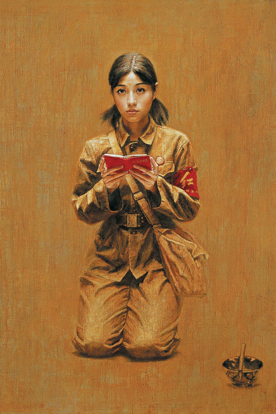 Memory of famous oil painting precipitation of Cultural Revolution classic oil painting hotel home decoration painting