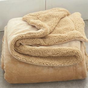 小毛毯被子双层加厚保暖单人女办公室沙发盖腿午睡冬季珊瑚绒毯子