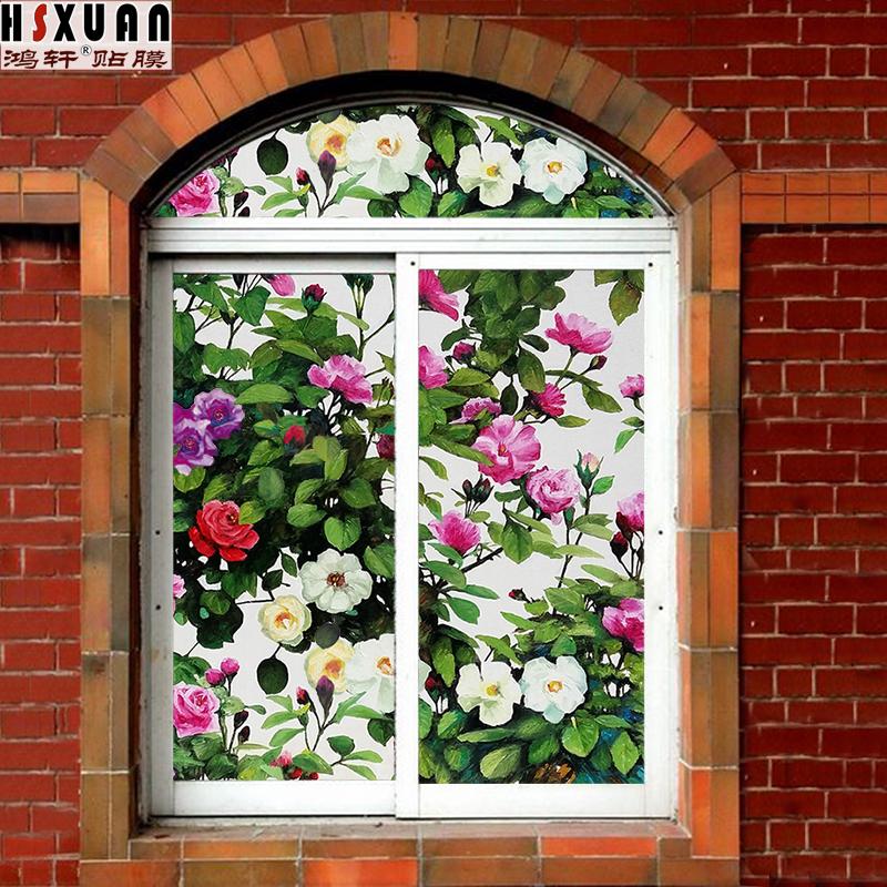 玻璃贴纸窗贴窗纸浴室门窗户贴纸