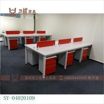 四人位职员办公桌椅462现代简约组合办公家具电脑桌屏风工作位