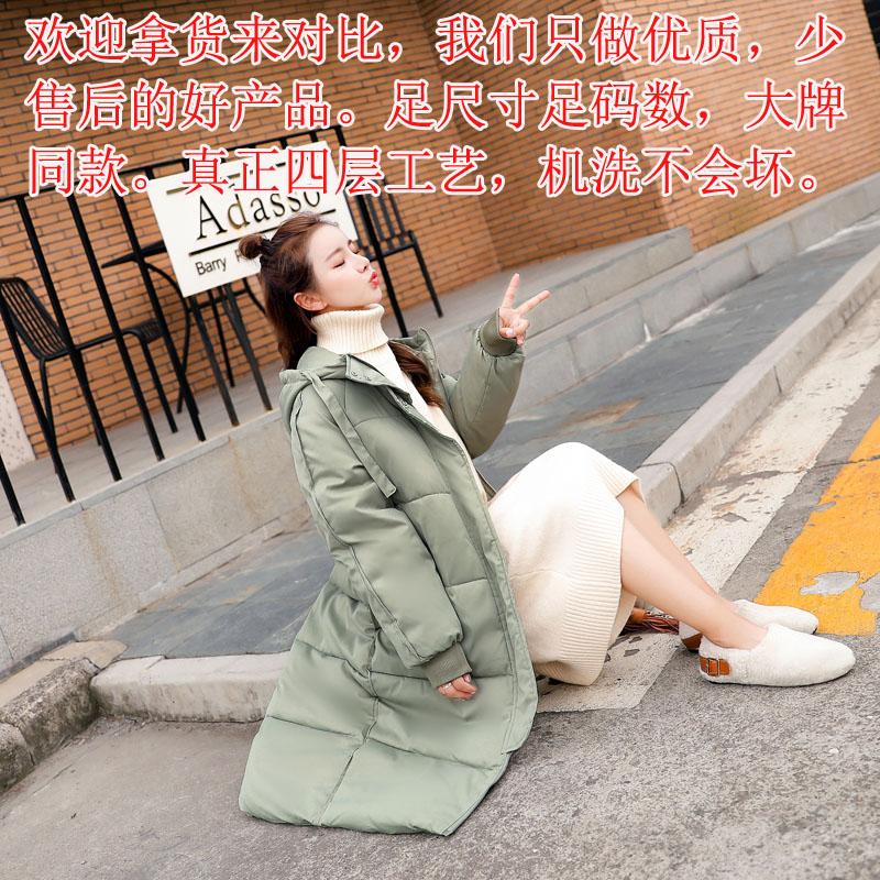實拍2019新款棉衣韓版寬松學生面包過膝羽絨棉服女中長款冬季外套