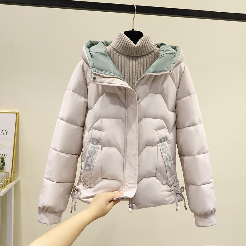 實拍棉衣女短款冬季新款加厚羽絨棉服韓版寬松面包服棉襖外套
