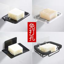 免打孔肥皂盒架太空铝浴室置物架创意皂网皂碟卫生间壁挂香皂盒架