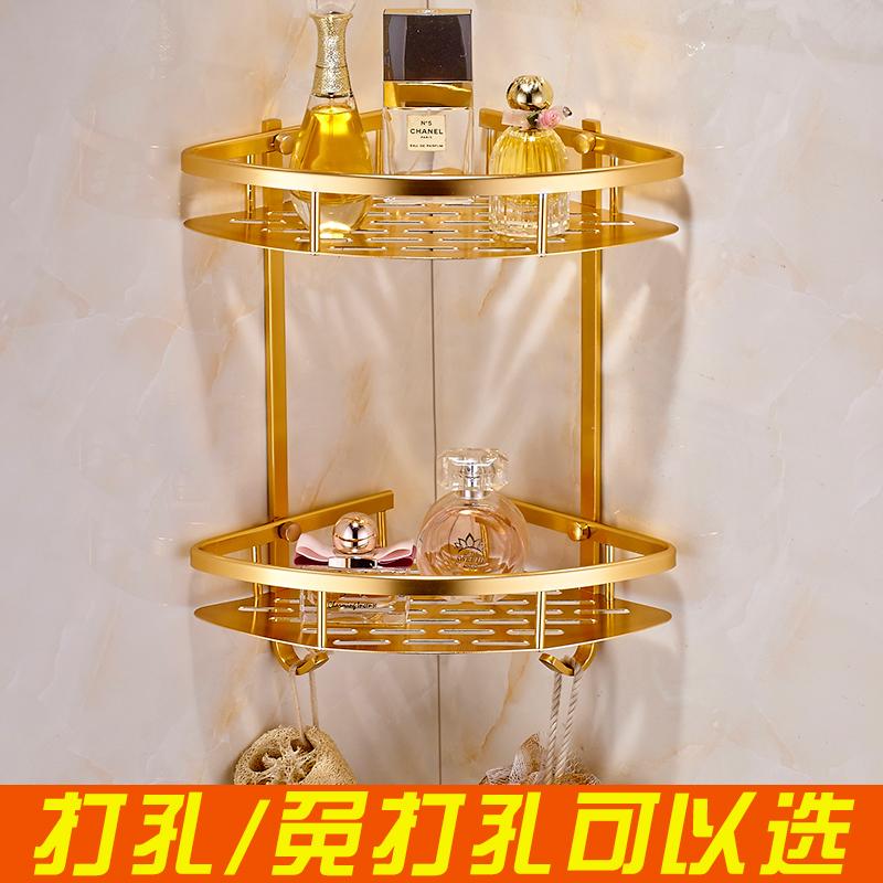 Император частица для женского имени твердый золотой ванная комната стеллажи штатив угол полка двойной стеллажи ванная комната туалет стеллажи