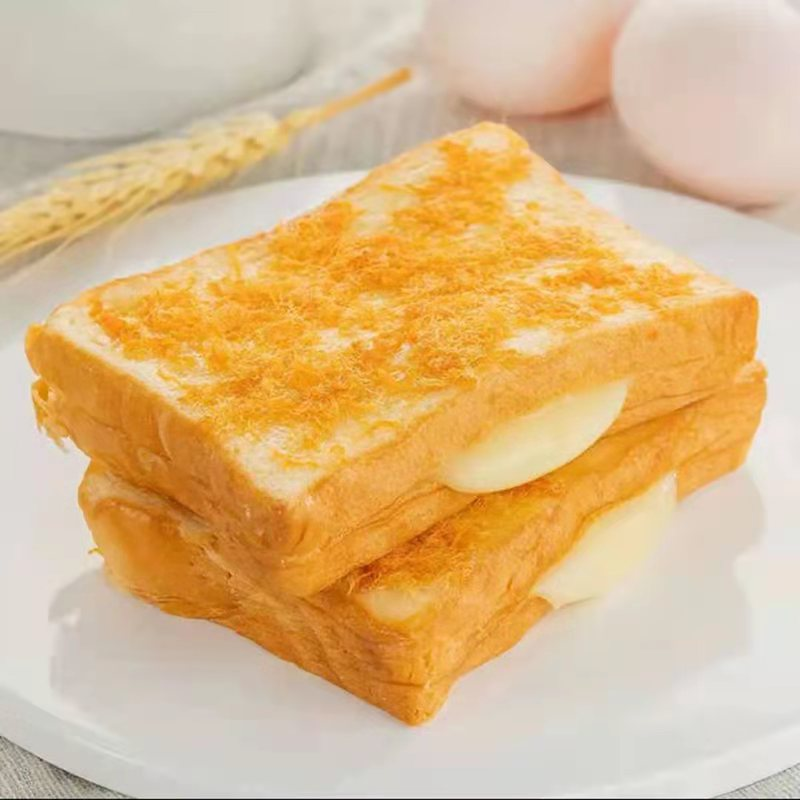 Lactic acid bacteria bread slice sandwich toast meat floss toast breakfast cake snack box about eight western style cakes