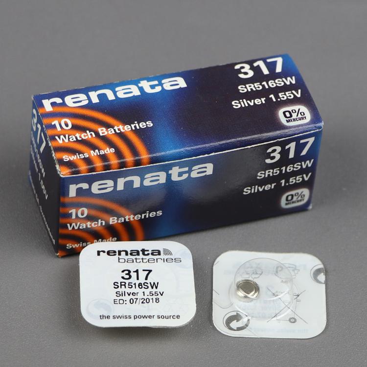 正品单粒装317sr516sw1.55v手表原装纽扣电池光光修表匠