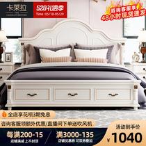 美式实木床1.8米双人床主卧婚床欧式床公主床轻奢床现代简约床