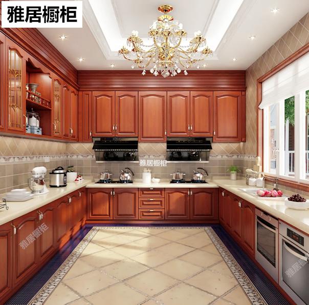 Shanghai Nordic kitchen solid wood integrated cabinet customized quartz stone environmental protection rabbit baby cherry oak door