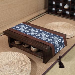 日式实木简约飘窗桌...