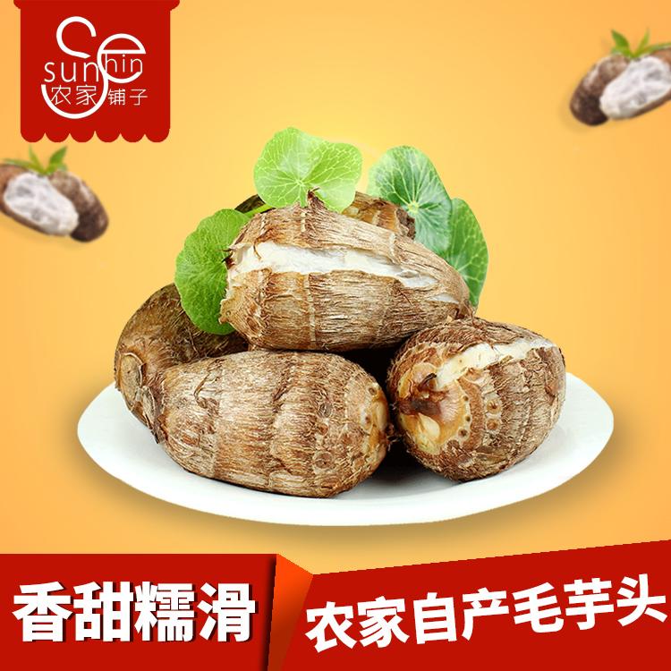18现货山东新鲜农家毛芋头粉糯小芋头特产5斤促销包邮笨芋艿香芋