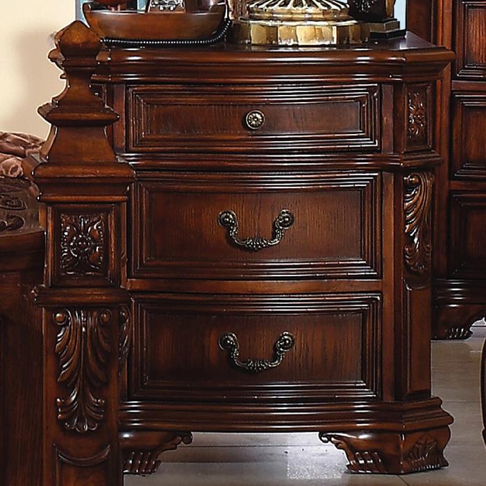 和谐家具实木床头柜 电话柜 美式别墅卧室家具 欧式经典床边收纳