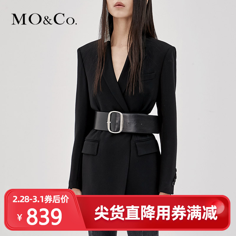 MOCO Professional Black Spring and Autumn Retro Small Suit Suit MA183JKT116 Moanke