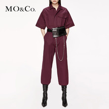 MOCO 2019 Autumn New Tool Wind Asymmetric Pocket Pure Cotton Couplet Pants MAI3JPS005 Moanke