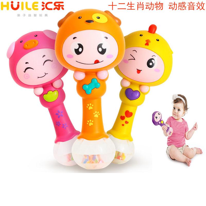 汇乐十二生肖摇节奏帮铃音乐手持婴儿动感益智早教儿童玩具0-3岁
