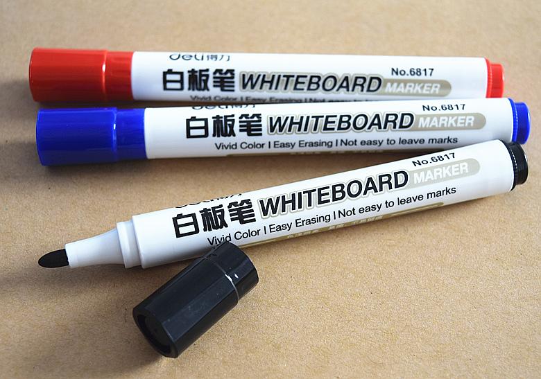 Deli/ компетентный мысль достигать NO.6817 белая доска карандаш вода тапки для натирания пола белая доска карандаш легко вытирать классная доска запись карандаш