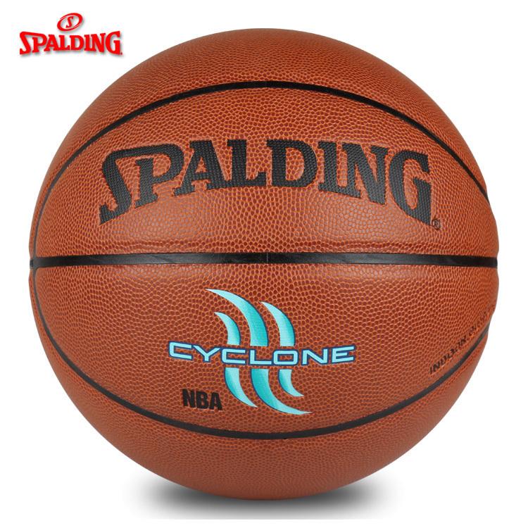 可乐文体斯伯丁篮球74-414飓风七号7号水泥地耐磨74-418