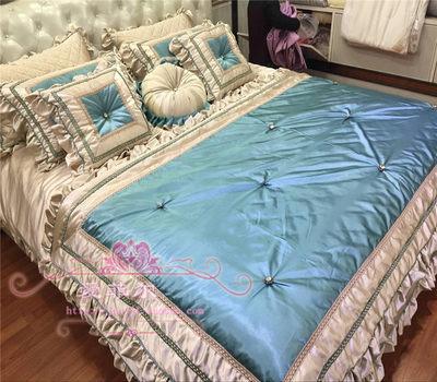欧式床上用品奢华高档样板房样板间床品美式家纺多件套婚庆四件套