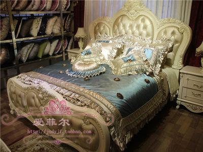 欧式高端奢华婚庆床上用品多件套 主卧新房样板房样板间床品套件