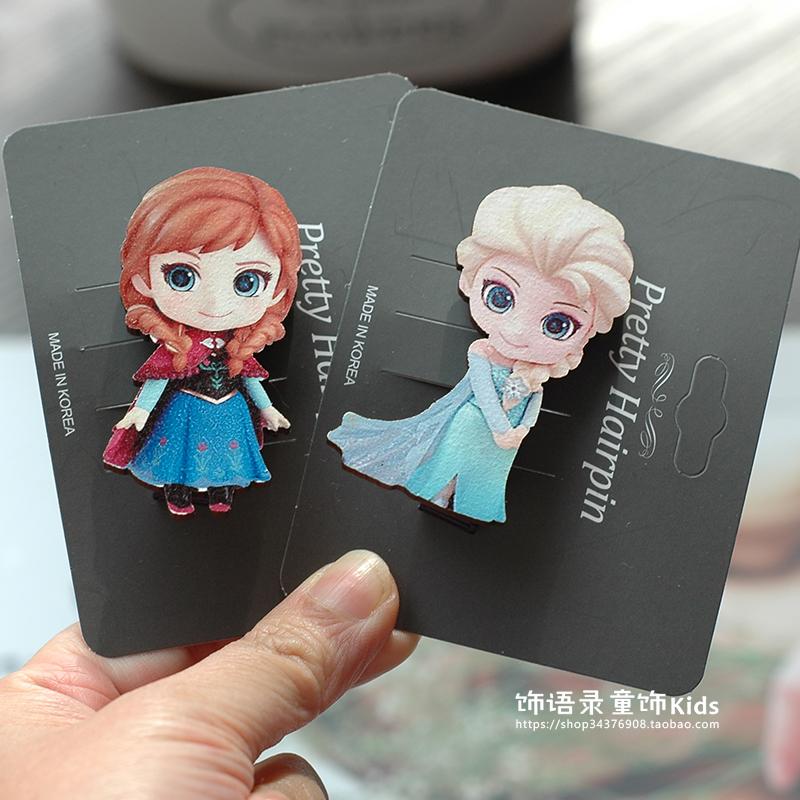 双十二热销韩国进口公主木质儿童发夹刘海女童宝宝头饰