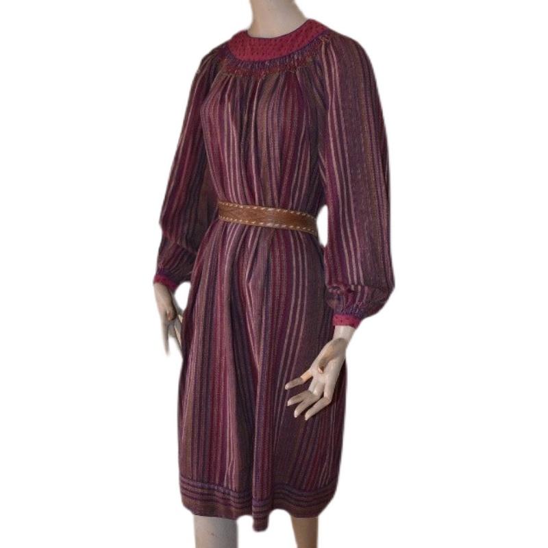 特!复古Adini原版100%棉麻波西米亚女神嬉皮士A型vintage连衣裙