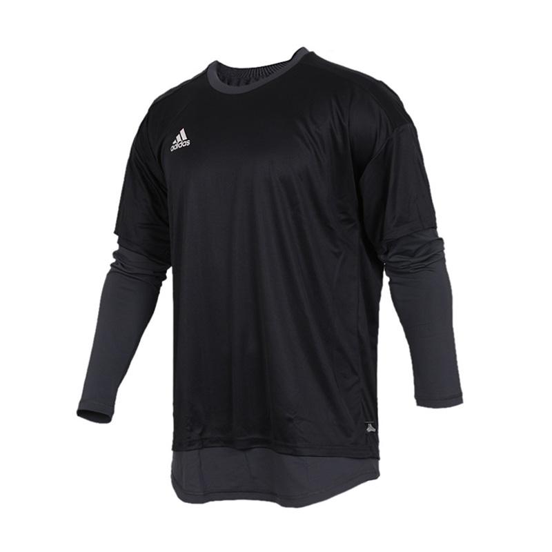 adidas阿迪达斯男子长袖T恤新款足球假两件休闲运动服CG1841