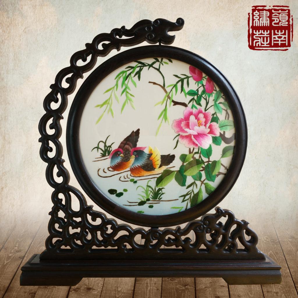 Широкий вышивать / провинция гуандун вышивать / волна вышивать исключительно вручную вышивка бутик украшение выйти замуж подарок мандаринка классическая качели установить двойной