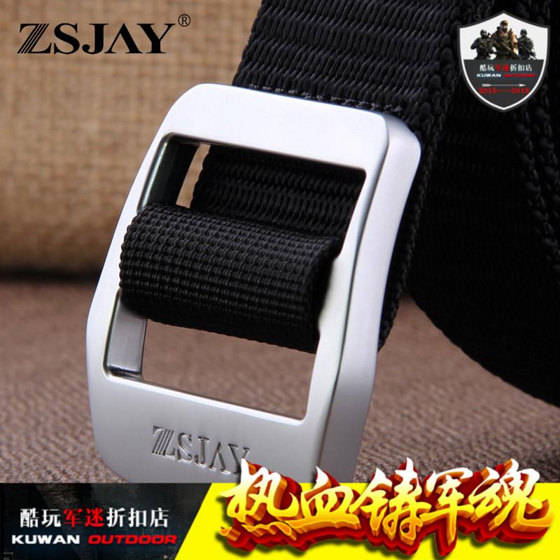ZSJAY/战术鸟R8户外战术帆布腰带男裤带版男士布腰带皮带裤腰带