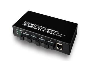 电单纤光纤收发器光电转换器四光一电光纤收发器光电转换1光4百兆
