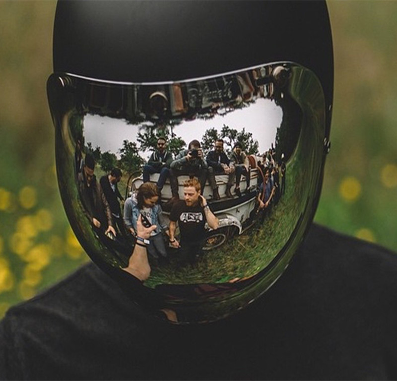 台湾生产摩托车镜片镀银哈雷泡泡镜_台湾生产摩托车头盔镜片三扣式镀银彩色哈雷复古通用防晒泡泡镜