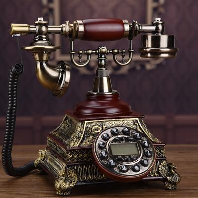 正品仿古电话机座机家用欧式有线固定无线插卡复古电话机古典美式