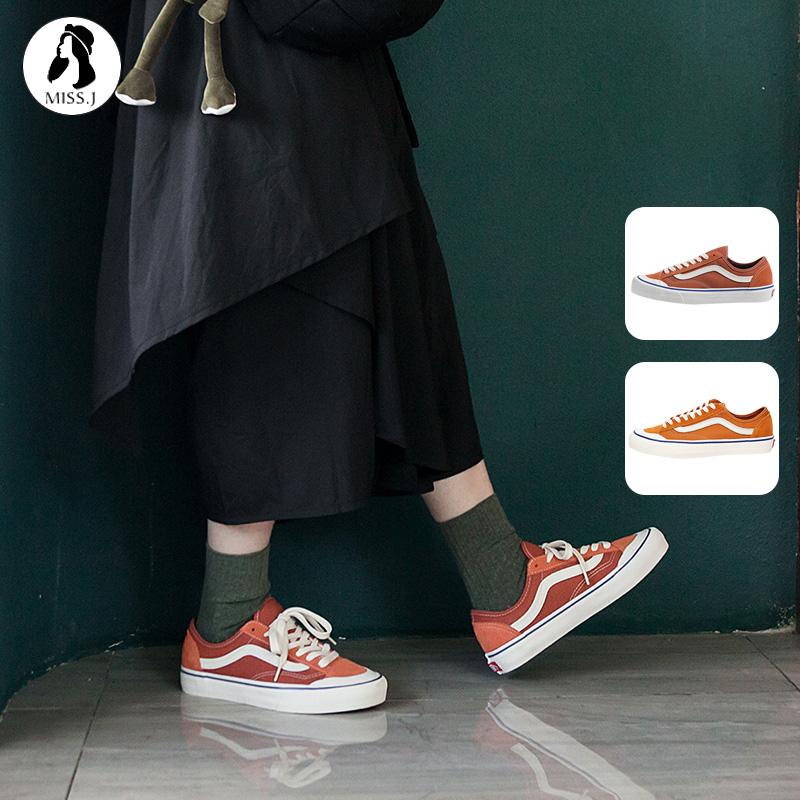 VANS范斯STYLE 36 SF焦糖脏橘色橘子汽水低帮男女鞋休闲板帆布鞋