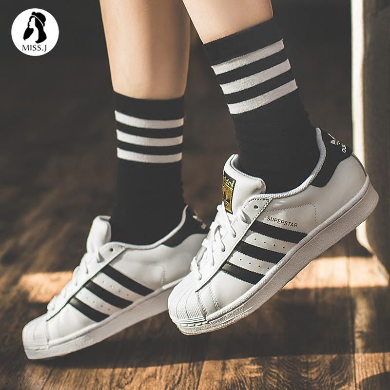 Adidas三叶草SUPERSTAR金标女鞋男鞋贝壳头板鞋 C77124/C77154图片