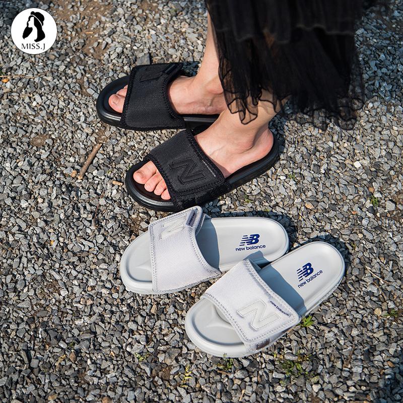 【金小姐】NEW BALANCE夏季男女鞋NB沙滩黑色运动拖鞋SD2152CBB