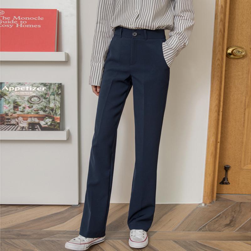 韩版高腰修身直筒裤复古2019工装裤(用5元券)