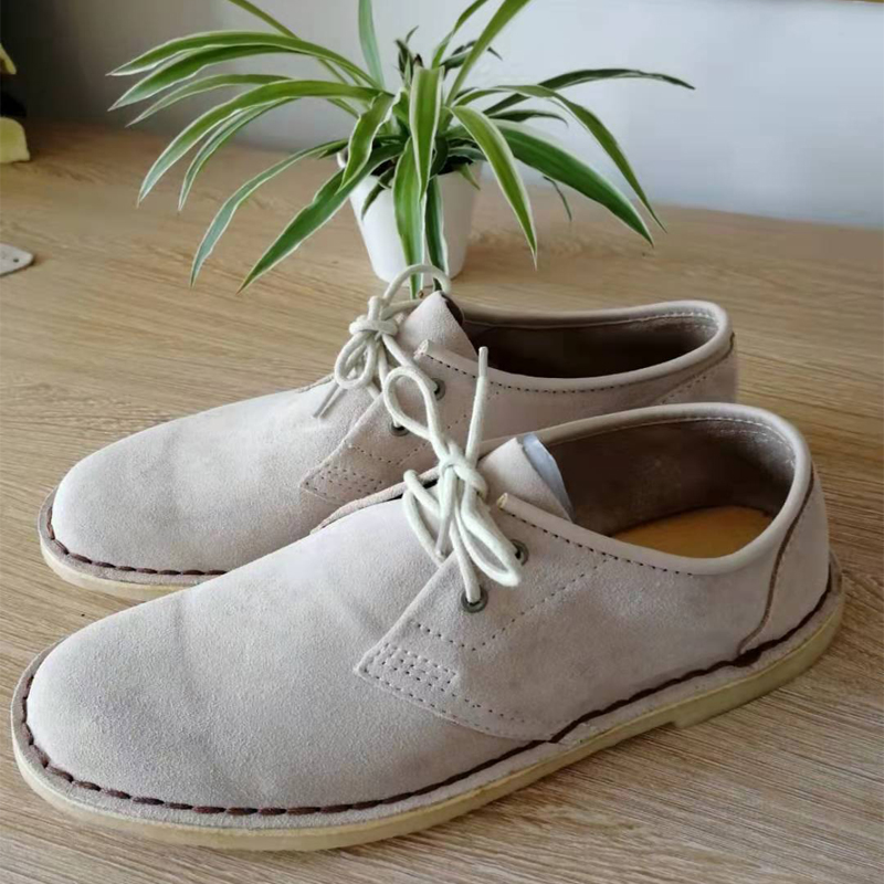 Special deal authentic British Suede Leather Mens shoes leather low top desert shoes retro summer breathable casual shoes