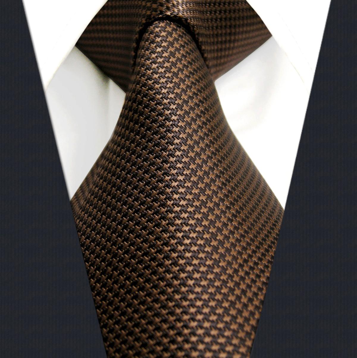 2020新款 领带男商务 深棕色正装 工作 上班领带百搭 高档礼盒装