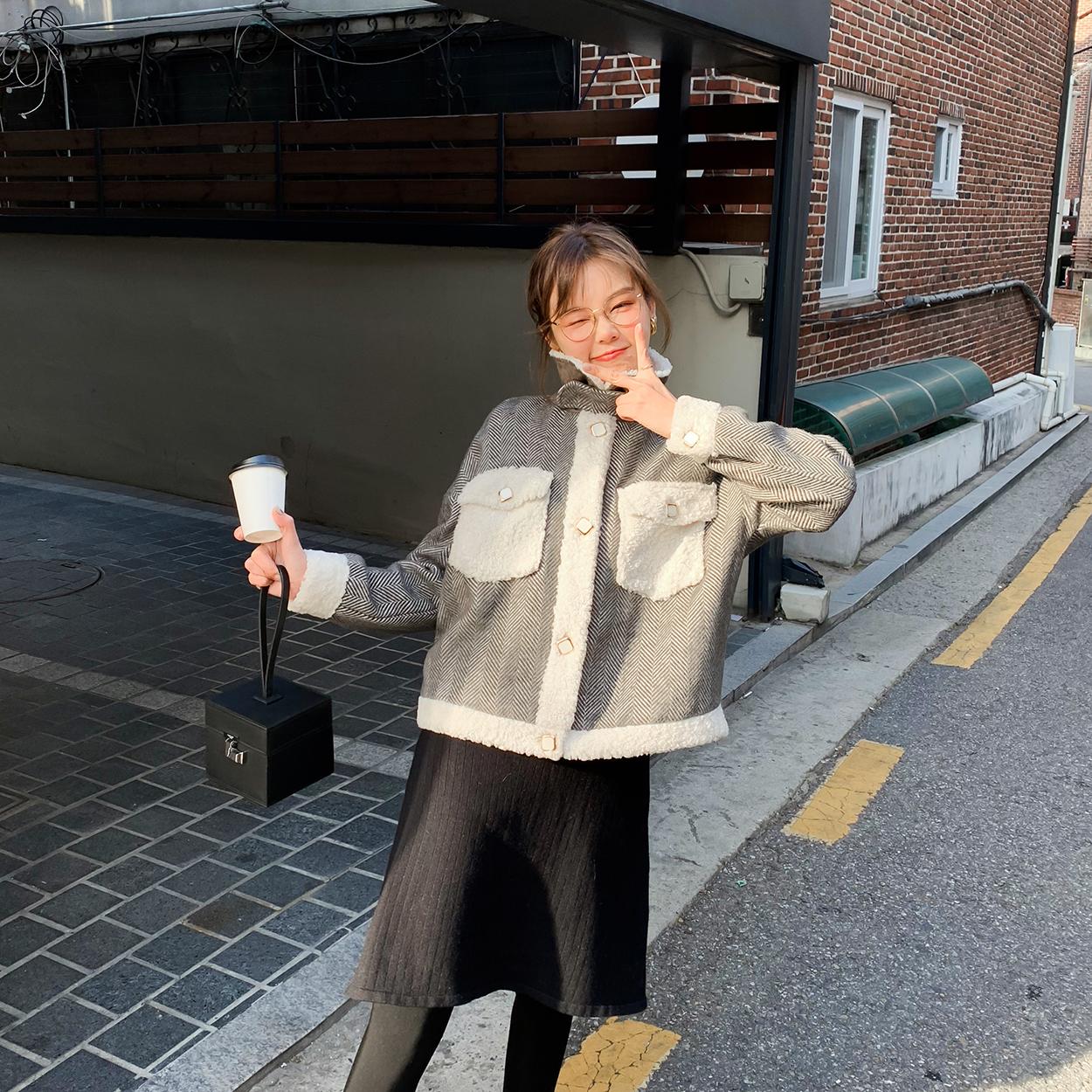 花栗鼠小姐 珍珠扣黄金貂大衣 柔软细腻不掉毛夹棉长短款外套