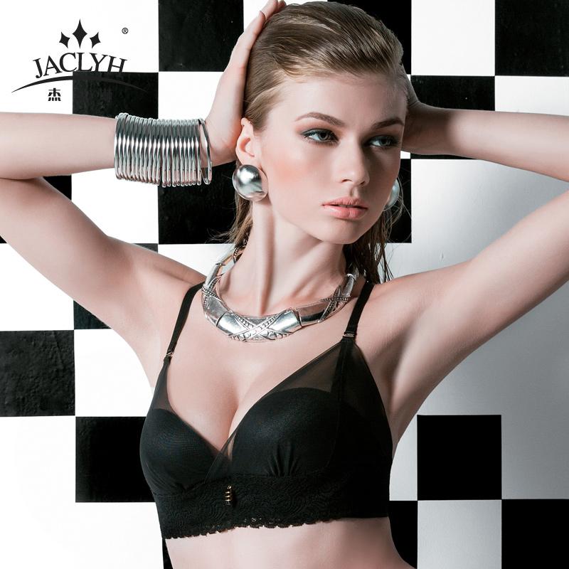 杰奎琳无痕无钢圈美背文胸女夏季小胸聚拢厚模杯内衣舒适性感胸罩
